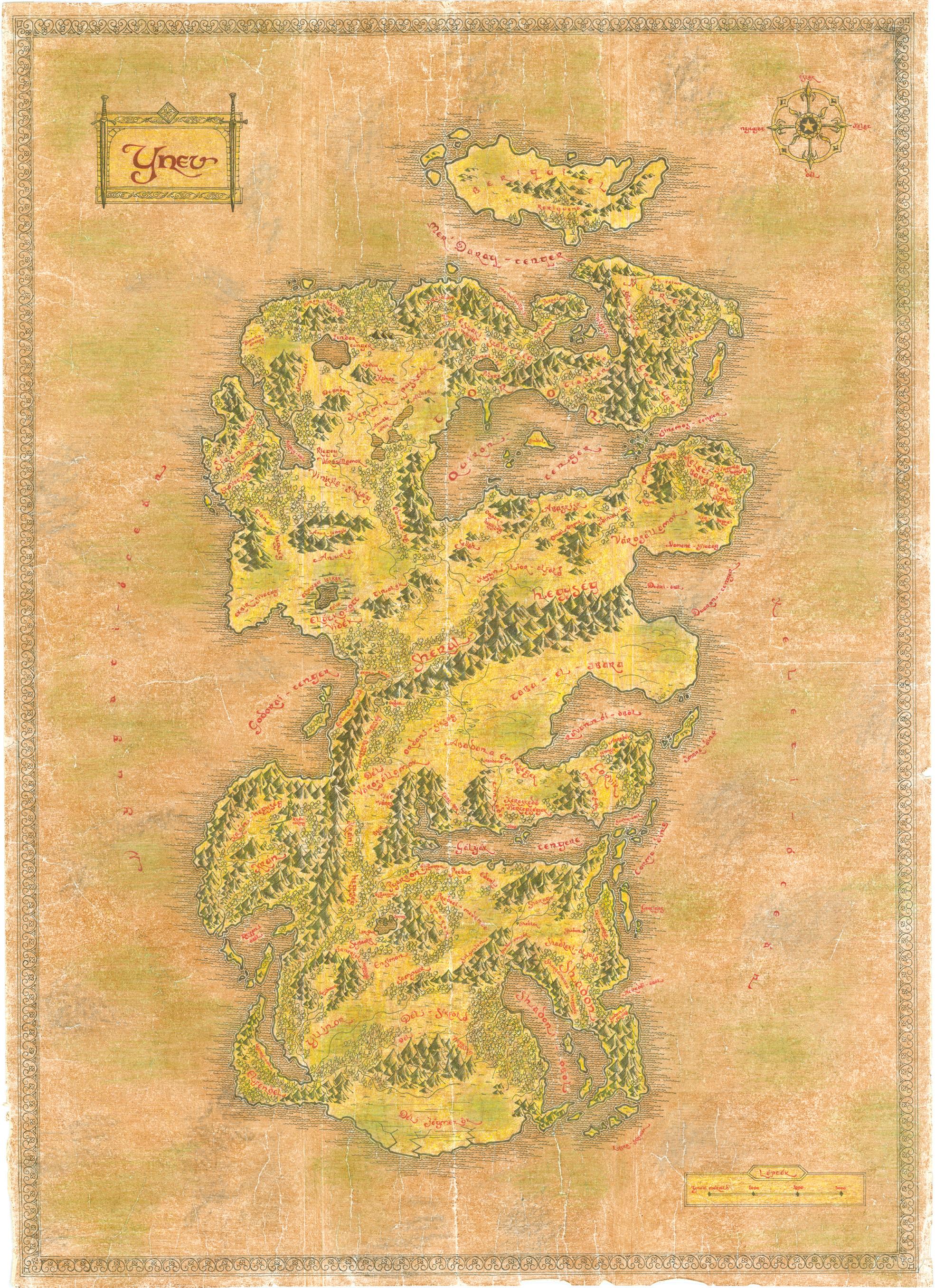 ynev térkép Nagy Ynev térkép   Krónikák.hu ynev térkép
