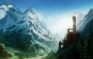 1600x1021_16871_Mountain_kingdom_2d_fantasy_landscape_snow_castle_mountains_picture_image_digital_art
