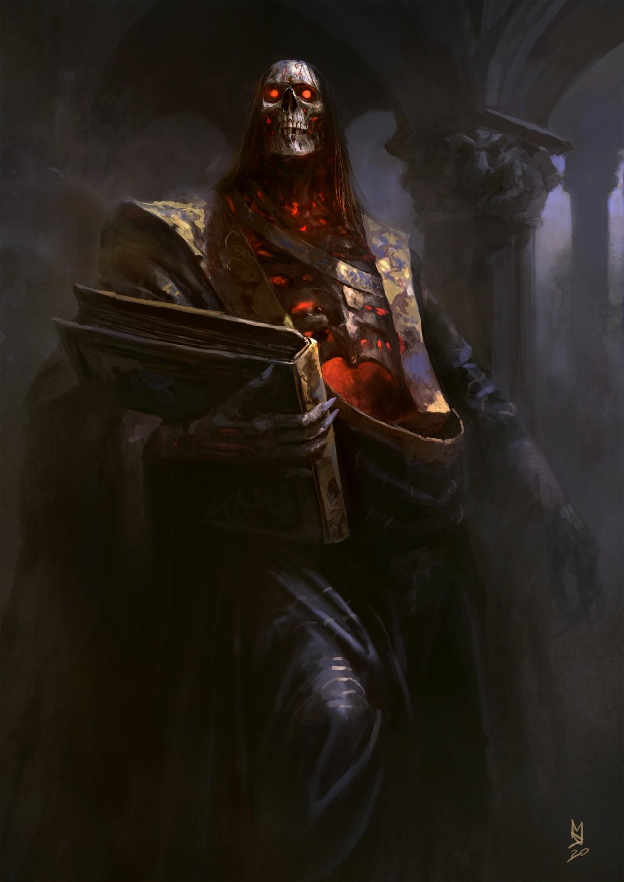 Csontváz démon regisztrációs űrlappal a kezében :)